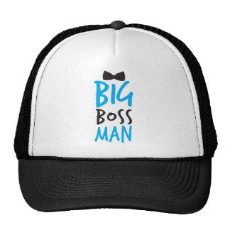 Netter Bossy Entwurf Big Boss Mannes mit einer Bog Retro Cap