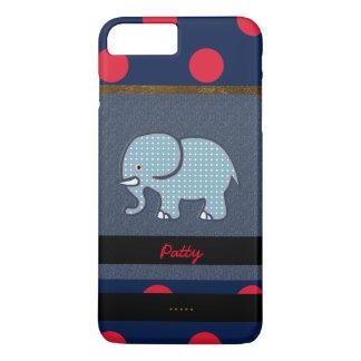netter Elefant u. Punkte iPhone 7 Plus Hülle