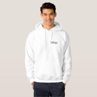 Netter weißer Hoodie: Glauben Sie (Schreiben) Hoodie