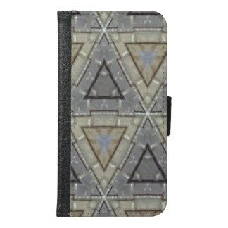 Nettes Muster des modernen Dreiecks Samsung Galaxy S6 Geldbeutel Hülle