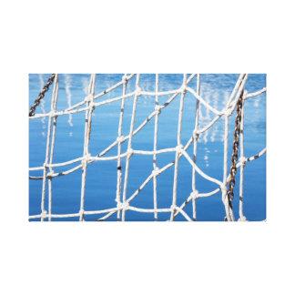 Netz auf blauem Meer Galerie Gefaltete Leinwand