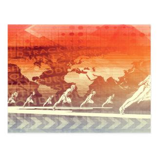 Netz-Informationstechnologie-Kunst der Zukunft Postkarte