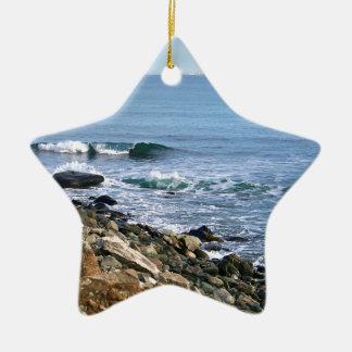 Neu-England Brandung Keramik Stern-Ornament