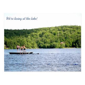 Neue Adresse an der See-beweglichen Mitteilung Postkarten