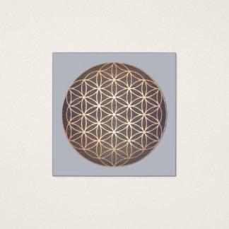 Neue Alters-Blume des Quadratische Visitenkarte