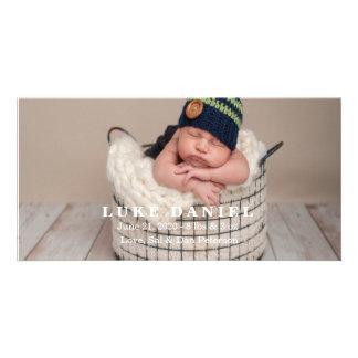 Neue Baby-Mitteilungs-Foto-Karten Photokartenvorlage