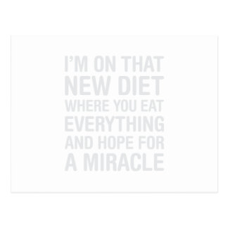 Neue Diät Postkarte