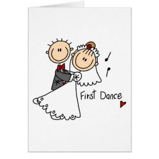 Neue Ehemann und der Ehefrau tanzen zuerst Karte