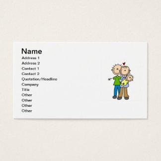 Neue Eltern-neue Baby-T - Shirts und Geschenke Visitenkarte