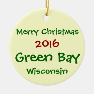 NEUE GREEN BAY-WISCONSIN-WEIHNACHTSverzierung 2016 Keramik Ornament