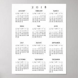 Neue Jahre 2018 jährliche Poster