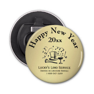 Neue Jahre guten Rutsch ins Neue Runder Flaschenöffner