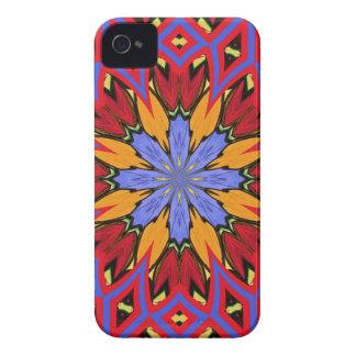 Neue Retro blaue Ringelblume u. roter iPhone Case-Mate iPhone 4 Hülle