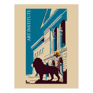 Neue Retro Kunstinstitut Chicago-Werbung Postkarten
