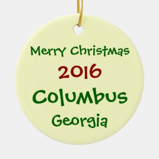 NEUE WEIHNACHTSverzierung 2016 COLUMBUS GEORGIA Keramik Ornament