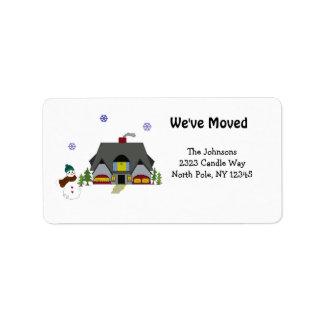 Neue Zuhause-Adresse Adressaufkleber