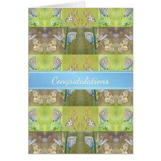 Neue Zuhause-Glückwunsch-Schmetterlings-Collage Grußkarte
