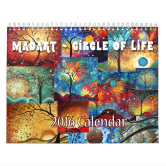 NEUER bunter MADART 2016 Kreis des Leben-Kalenders Kalender
