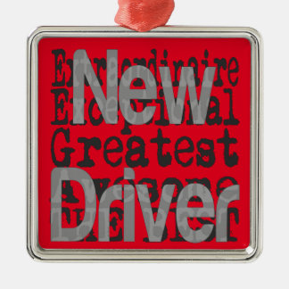 Neuer Fahrer Extraordinaire Silbernes Ornament