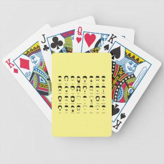 Neues Bart-Diagramm Poker Karten