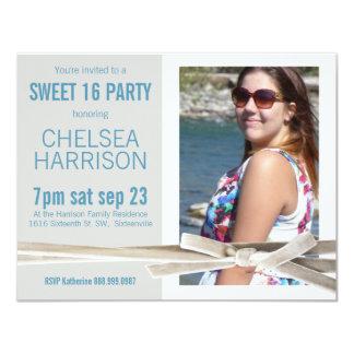 Neues Foto-Geburtstags-Party des Bonbon-16 10,8 X 14 Cm Einladungskarte