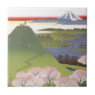 """Neues Fuji"" Hiroshige Kleine Quadratische Fliese"