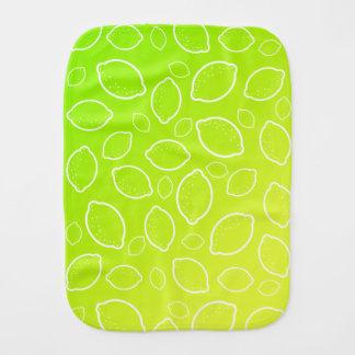 neues grünes gelbes Zitronenmuster des girly Baby Spucktuch