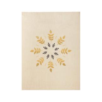 Neues hölzernes Plakat mit Mandalakunst Holzposter