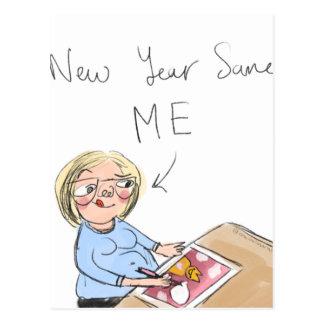 Neues Jahr selben ich Postkarte