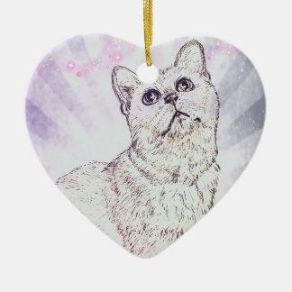 Neugierige Katze durch Carol Zeock Keramik Ornament