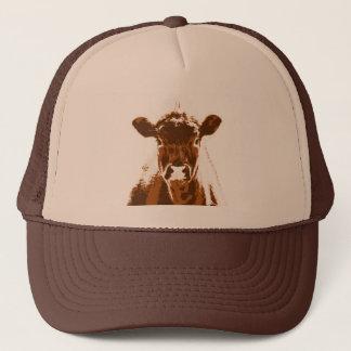 Neugieriges Brown-Kuh-Vieh Truckerkappe