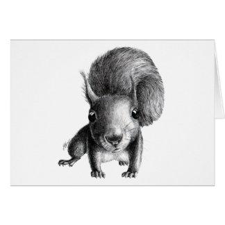Neugieriges Eichhörnchen Grußkarte