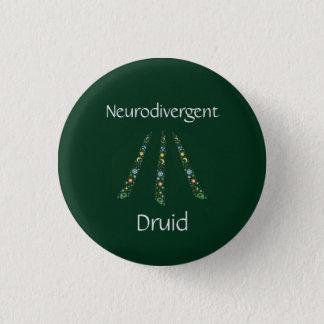 Neurodivergent Druide Runder Button 2,5 Cm