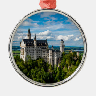 Neuschwanstein-Schloss - Bayern - Deutschland Rundes Silberfarbenes Ornament