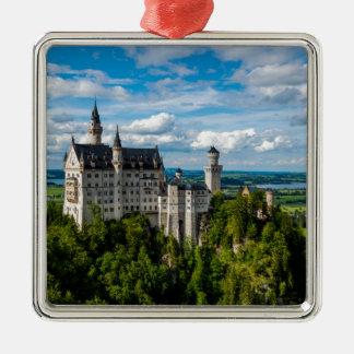 Neuschwanstein-Schloss - Bayern - Deutschland Silbernes Ornament