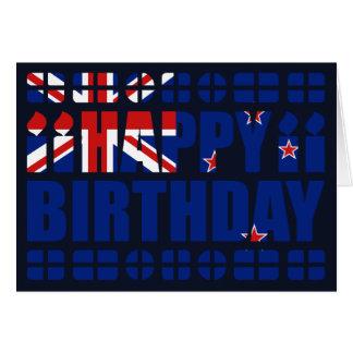 Neuseeland-Flaggen-Geburtstags-Karte Karte