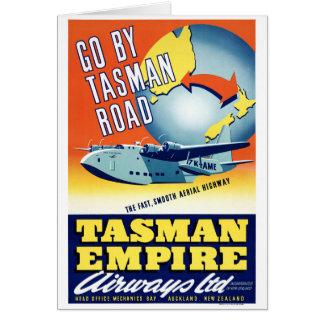 Neuseeland gehen durch Tasman Straßen-Vintages Karte
