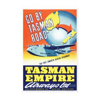 Neuseeland gehen durch Tasman Straßen-Vintages Leinwanddruck