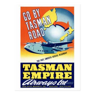 Neuseeland gehen durch Tasman Straßen-Vintages Postkarte