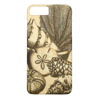 Neutrale Muscheln und korallenrote Sammlung iPhone 8 Plus/7 Plus Hülle
