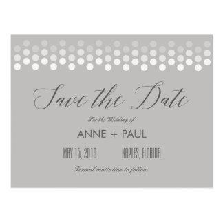 Neutrale Punkte Save the Date Postkarte