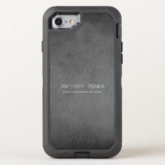 Neutraler Farbrustikaler Zement-konkretes OtterBox Defender iPhone 8/7 Hülle