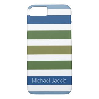 Neutrales FarbTrend-Blau-Monogramm iPhone 8/7 Hülle