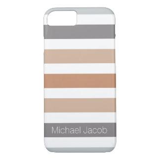 Neutrales FarbTrend-Grau-Monogramm iPhone 8/7 Hülle