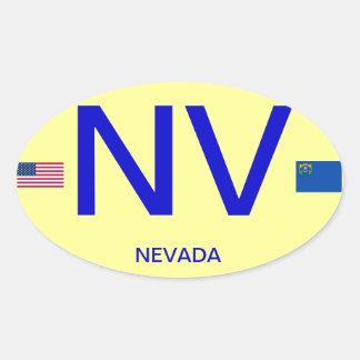 Nevada* Euro-ähnlicher ovaler Aufkleber Nevada