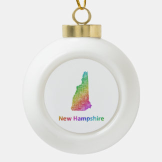 New Hampshire Keramik Kugel-Ornament