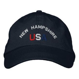 New Hampshire USA stickte Marine-Blau-Hut Bestickte Baseballmütze