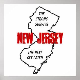 New-Jersey: die starken überleben, die Erholung er Poster