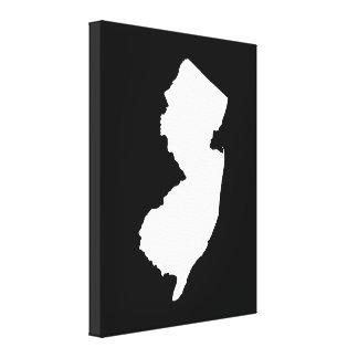 New-Jersey im Weiß und im Schwarzen Galerie Gefaltete Leinwand