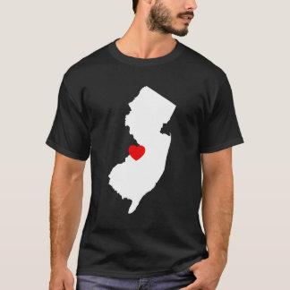 New-Jersey mit rotem Herzen T-Shirt